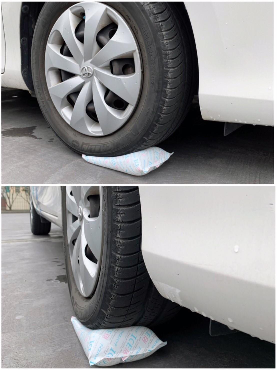 軟式保冷劑壓力測試-VIOS汽車