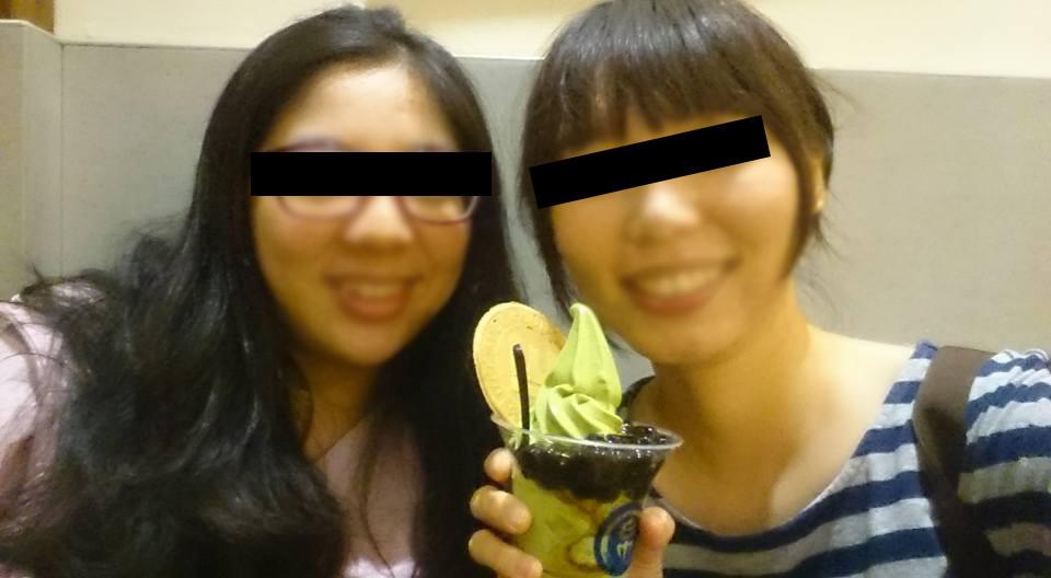 朋友與我都很喜歡金帛(這是三年前回台合影)